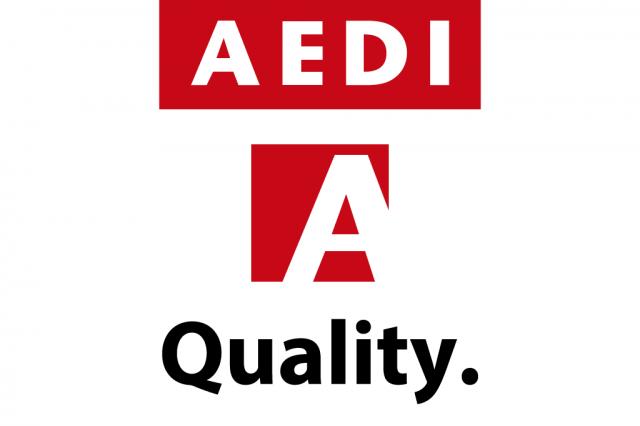 新しいAEDIのロゴ
