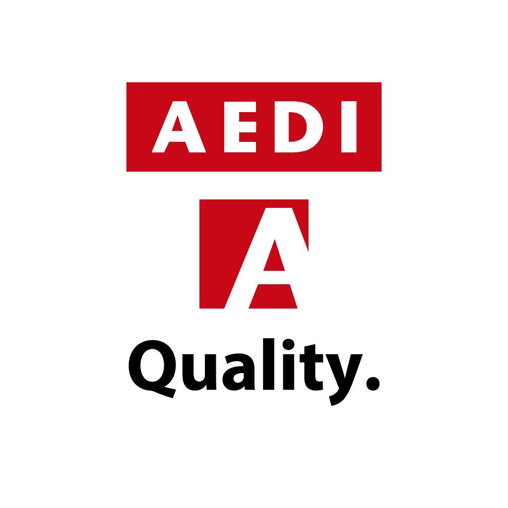 NEW AEDI Logo Quality. ロゴ