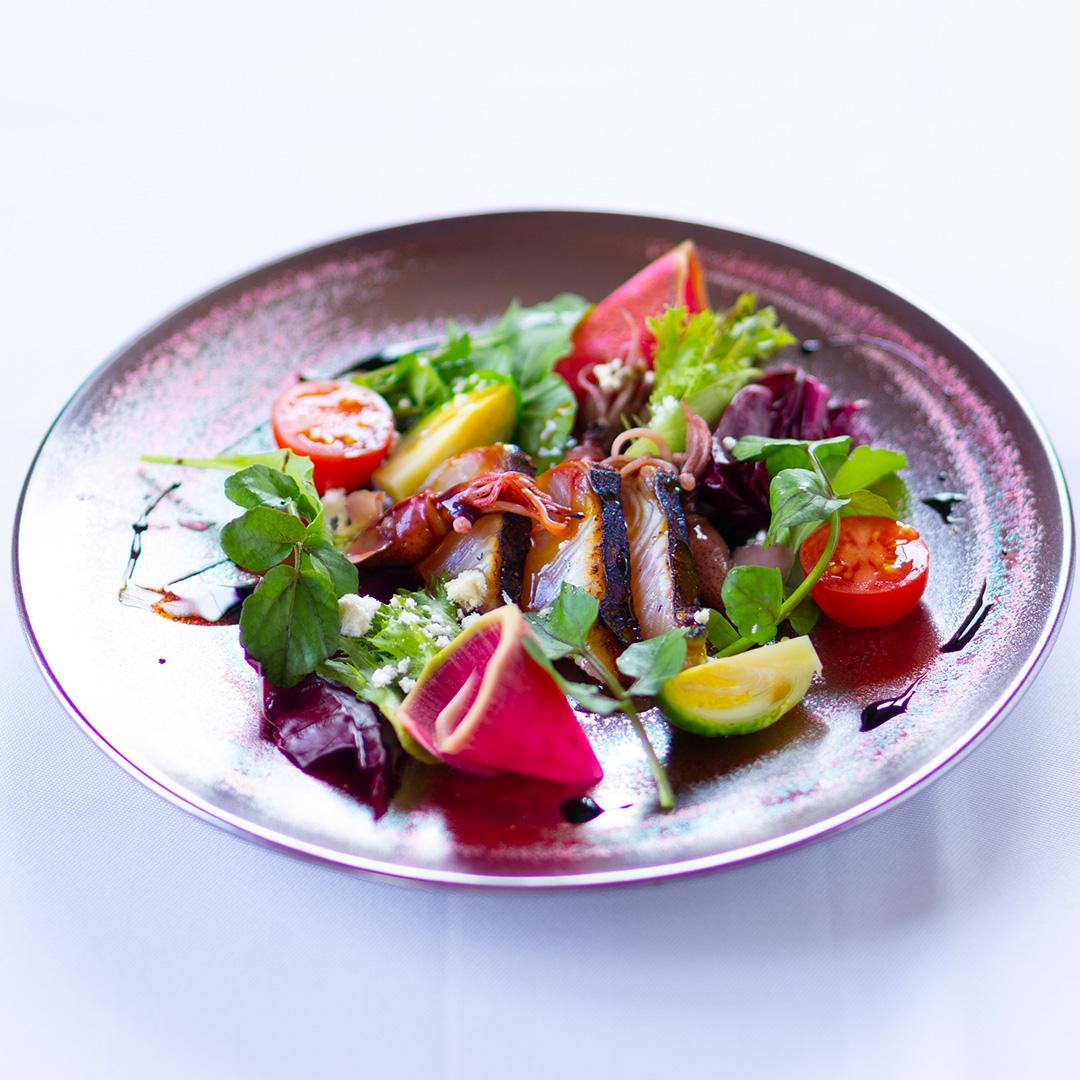アンド 倉敷 サワラのあぶりのカルパッチョ(イタリアン 和食創作料理)